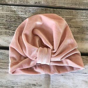 Other - Brand New Pink Velvet Baby Toddler Girl Turban